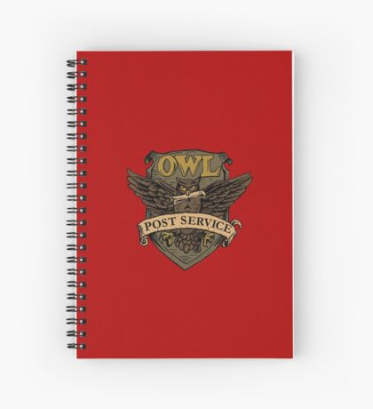 Owl Postal Service Spiral Notebook
