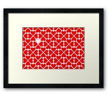 Valentine pattern Framed Print