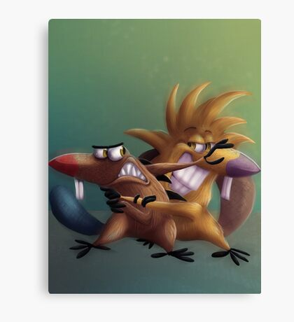 The Angry Beavers - Remake Canvas Print