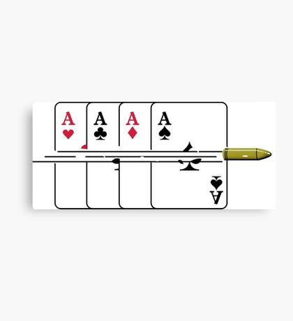 Shoot the Deck of Cards VRS2 Canvas Print