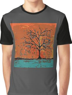 Fall tree with branches on lake Graphic T-Shirt