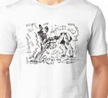 Painted dog, Lycaon pictus Unisex T-Shirt