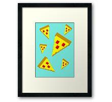 Pixel Pizza (B) Framed Print