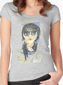 Girl in the city park Women's Fitted Scoop T-Shirt