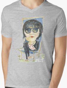 Girl in the city park Mens V-Neck T-Shirt
