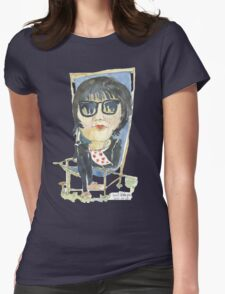 Girl in the city park Womens Fitted T-Shirt