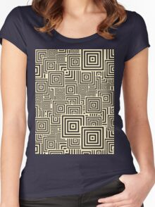 seamless patterns Black white Women's Fitted Scoop T-Shirt