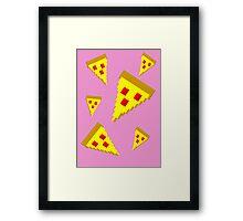 Pixel Pizza (P) Framed Print