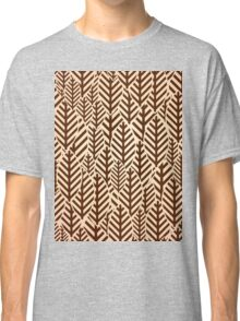 Seamless black and white leaf pattern Classic T-Shirt