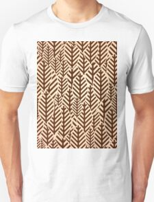 Seamless black and white leaf pattern T-Shirt