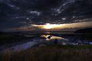 Sunset Over Clevedon Estuary by Nigel Bangert