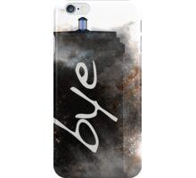 Bye...British Phone Box in Space iPhone Case/Skin