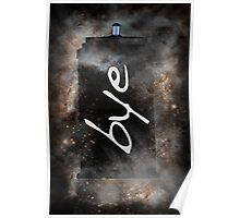 Bye...British Phone Box in Space Poster