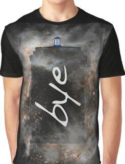 Bye...British Phone Box in Space Graphic T-Shirt