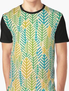 Seamless black and white leaf pattern Graphic T-Shirt