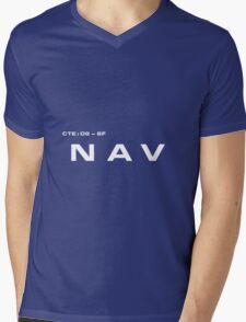 2001 A Space Odyssey - HAL 9000 NAV System Mens V-Neck T-Shirt