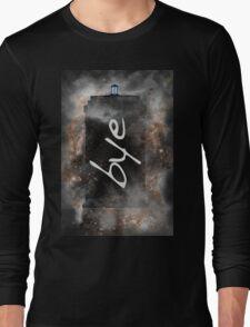 Bye...British Phone Box in Space Long Sleeve T-Shirt