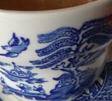 Willow pattern tea cup Sticker