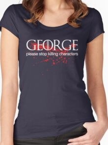 George please stop killing Women's Fitted Scoop T-Shirt