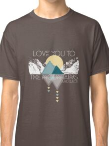Mountains and Back  Classic T-Shirt