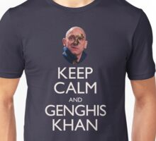 Keep Calm and Genghis Khan Unisex T-Shirt