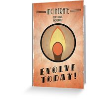 Bioshock Plasmid Poster Incinerate Greeting Card
