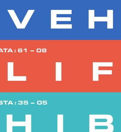 2001 A Space Odyssey - HAL 9000 VEH, LIF & HIB Systems Sticker