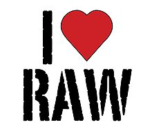 I heart raw Photographic Print
