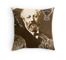 Jules Verne Tribute Throw Pillow