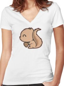 I Am Nuts About You Women's Fitted V-Neck T-Shirt