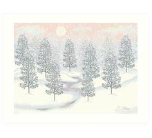 Snowy Day Winter Scene Print Art Print