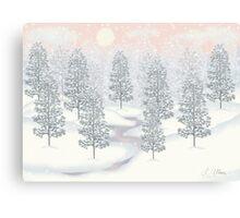 Snowy Day Winter Scene Print Canvas Print