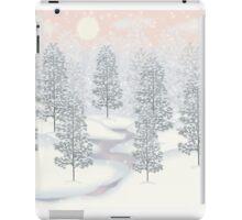 Snowy Day Winter Scene Print iPad Case/Skin