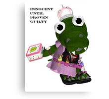 Daisy Gator. Innocent until proven guilty Canvas Print