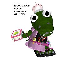 Daisy Gator. Innocent until proven guilty Photographic Print
