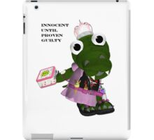 Daisy Gator. Innocent until proven guilty iPad Case/Skin