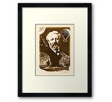 Jules Verne Tribute (natural creme white) Framed Print
