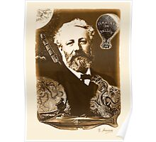 Jules Verne Tribute (natural creme white) Poster