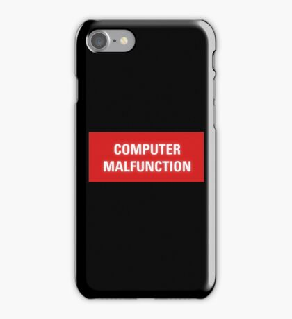 2001 A Space Odyssey - HAL 9000 Computer Malfunction iPhone Case/Skin