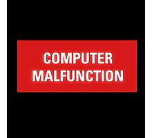 2001 A Space Odyssey - HAL 9000 Computer Malfunction Photographic Print