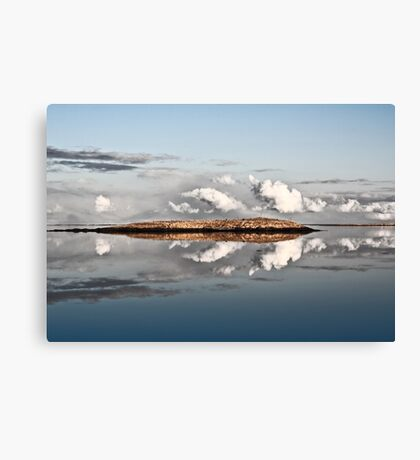 Island-Clouds-Water Canvas Print