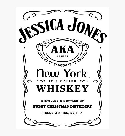 It's Called Whiskey (White) Photographic Print