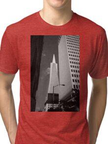 San Francisco - Transamerica Pyramid Building Tri-blend T-Shirt