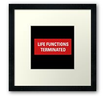 2001 A Space Odyssey - HAL 9000 Life Functions Terminated Error Framed Print