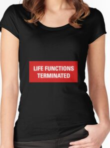 2001 A Space Odyssey - HAL 9000 Life Functions Terminated Error Women's Fitted Scoop T-Shirt