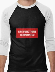 2001 A Space Odyssey - HAL 9000 Life Functions Terminated Error Men's Baseball ¾ T-Shirt