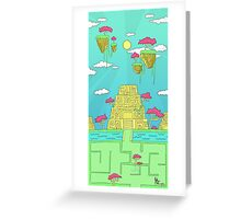 On the Road to the City of Gold Greeting Card
