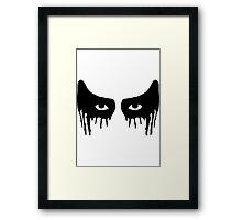 Lexa eye makeup Framed Print