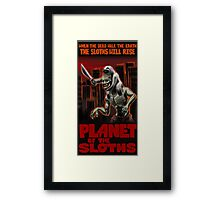 Planet Of The Sloths Framed Print