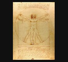 Iconic Leonardo da Vinci Vetruvian Man Unisex T-Shirt